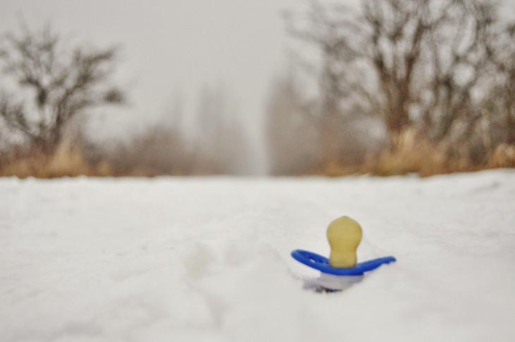 smokk på snø