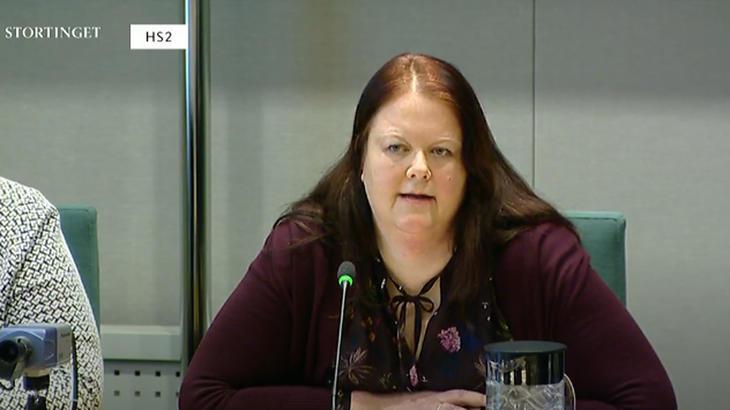 Rita Cecilie Skinstad-Bermingsrud i komitehøring på Stortinget