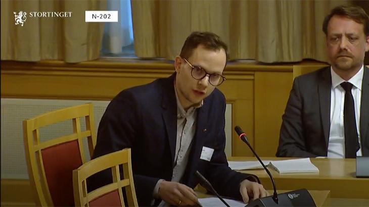 Christian Wiik Kynsveen fra FO i komitehøring