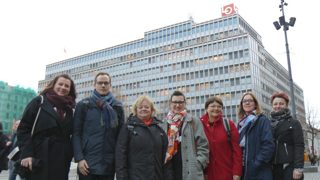 FOs politiske ledelse deltok på LOs representantskap.