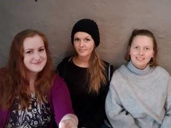 Marie, Stine og Ida.
