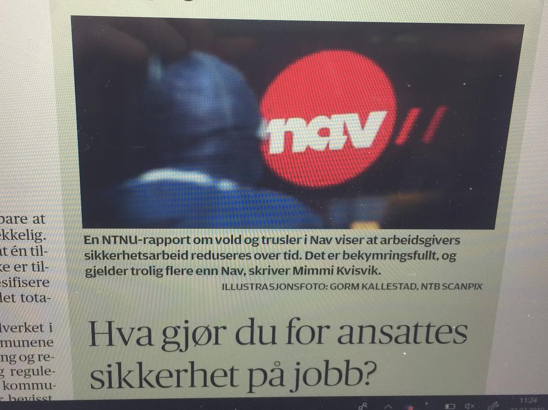 KOMMUNAL RAPPORT: Forbundsleder Mimmi Kvisvik oppfordrer arbeidsgivere til å ta i et tak mot vold og trusler i velfedstjenestene. Foto: Skjermdump fra Kommunal Rapport.