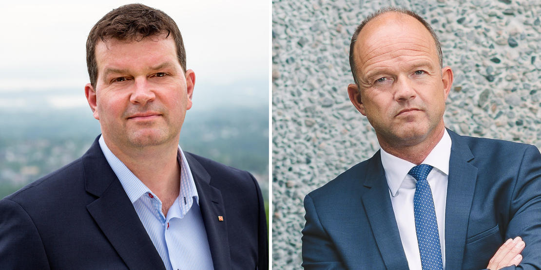 MEKLING PÅ OVERTID: LO-leder Hans-Christian Gabrielsen og NHO-sjef Ole Erik Almlid mekler fremdeles