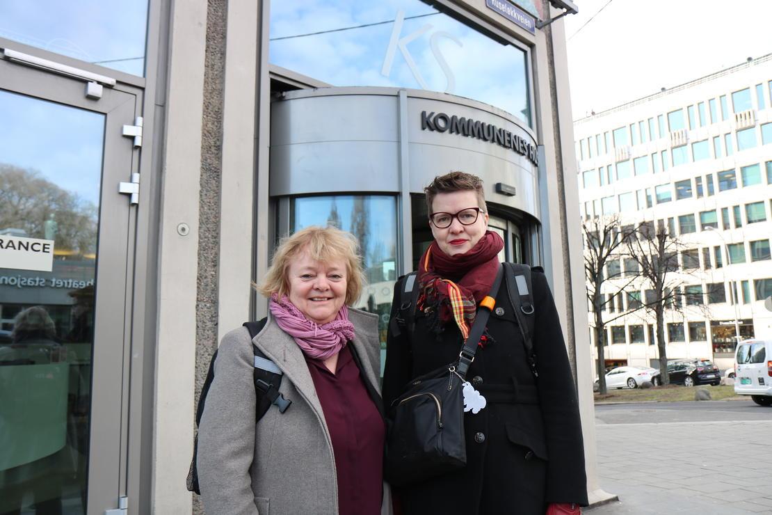 KS-OPPGJØRET: Forbundsleder Mimmi Kvisvk og forhandlingsrådgiver Helga Melsom i FO.a