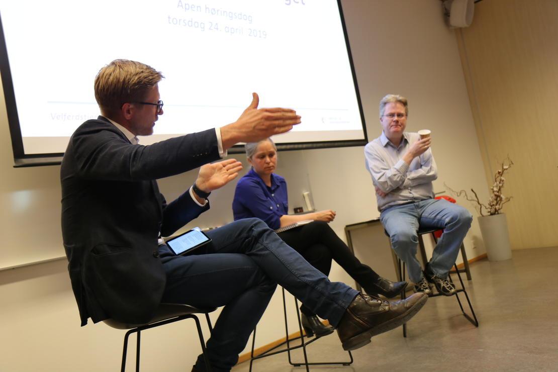 DEBATT: Linn Herning, Velferdsalliansen og Jan Arild Snoen, Minerva, intervjues om fortjenestemotivets rolle i velferdstjenestene av Svein Tore Bergestuen.