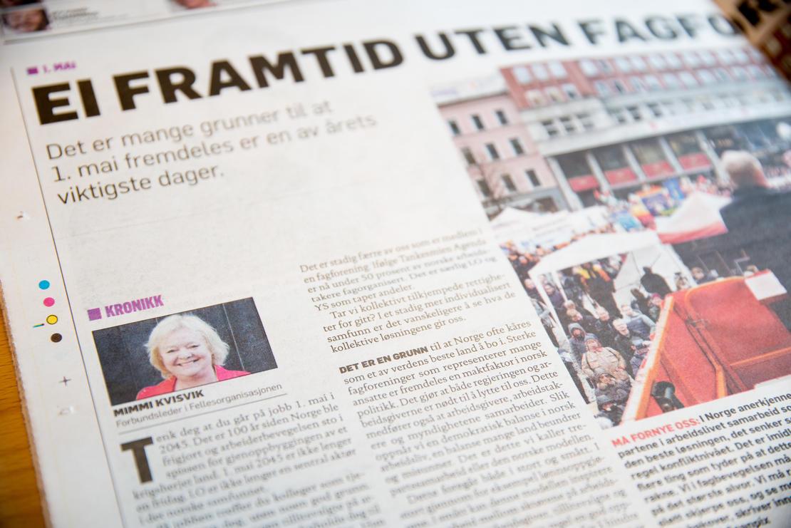 Dagbladet og kronikk