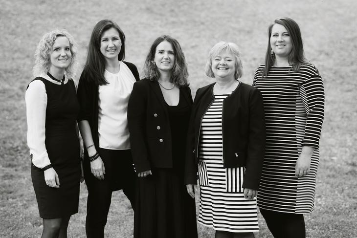 Arbeidsutvalget i FO, valgt på kongressen i 2015 (fra venstre): Tone Faugli (nestleder), Marianne Solberg Johnsen (seksjonsleder for vernepleierne), Irmelin Sangolt Tjelflaat (seksjonsleder for barnevernspedagogene), Mimmi Kvisvik (forbundsleder), Kathrine Haugland Martinsen (seksjonsleder for sosionomene)