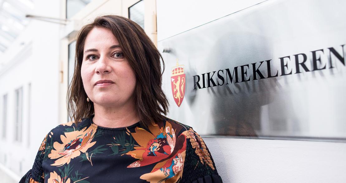 MEKLING: Kathrine Haugland Martinsen i FO-ledelsen deltar i meklingen hos riksmekleren som startet i dag.