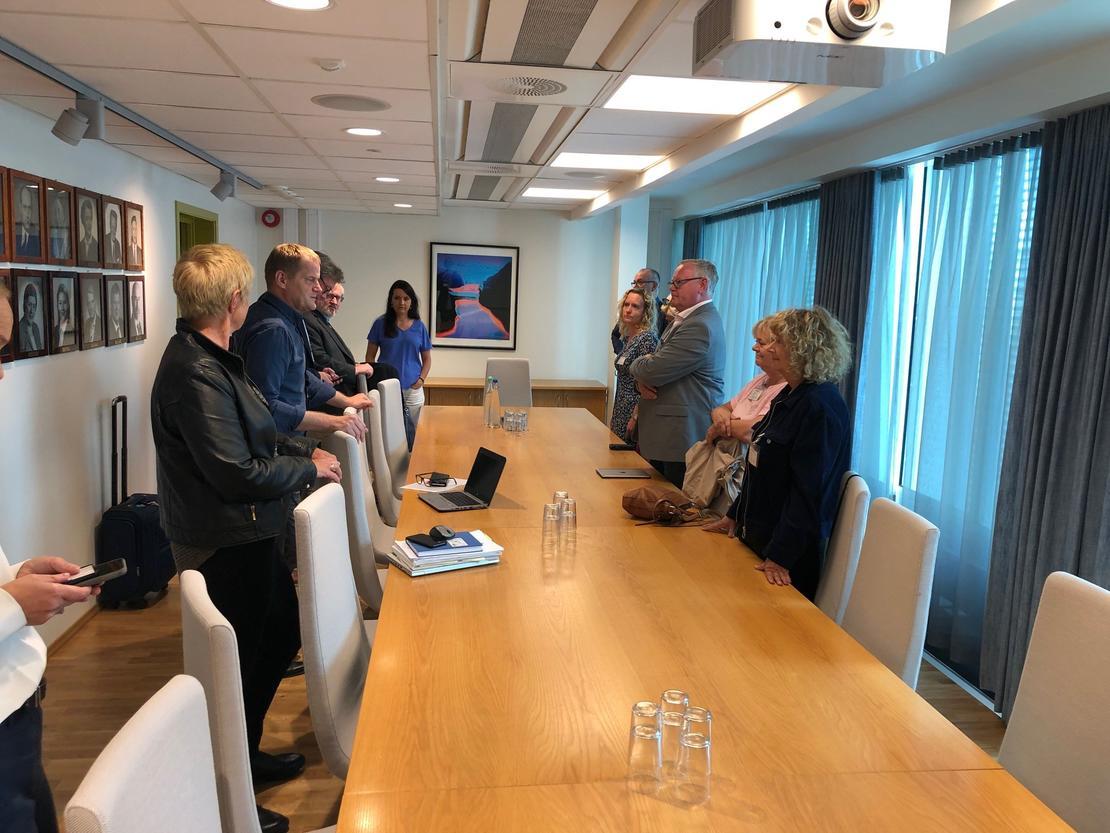 Rerpresentantene for  Spekter, LO og YS møttes hos statsråden i ettermiddag.