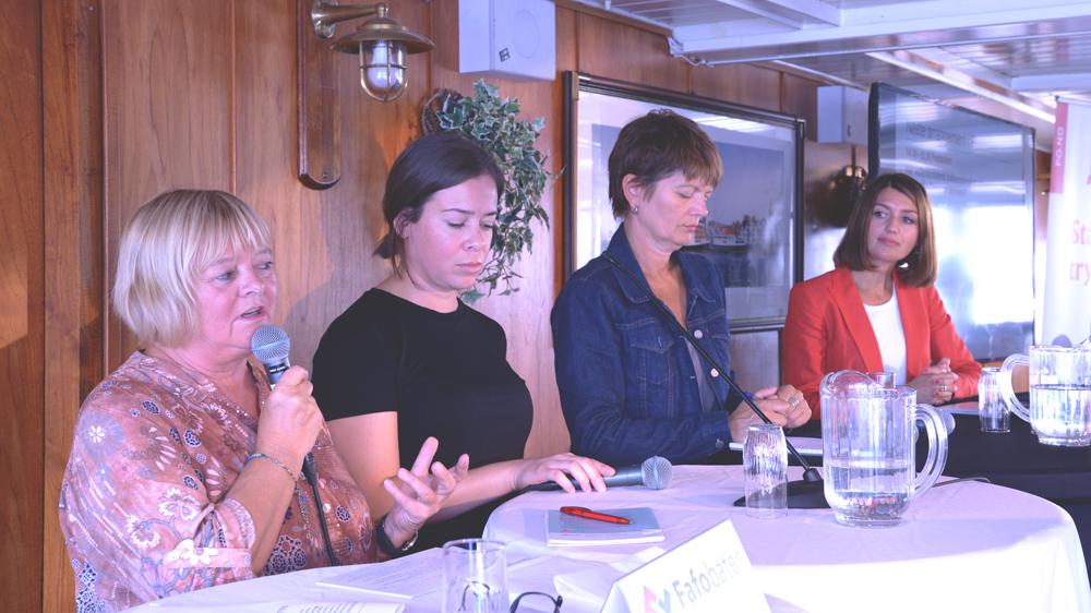 ALVORLIG BUDSKAP: FO og Fafo fikk oppmerksomhet om dramatiske tall for vold og trusler mot FO-medlemmene under Arendalsuka.