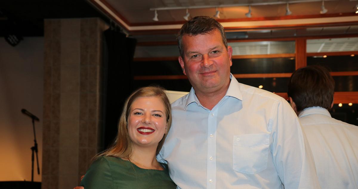 Leder for FO-studentene, Kristin Aldrige og LO-leder Hans-Christian Gabrielsen