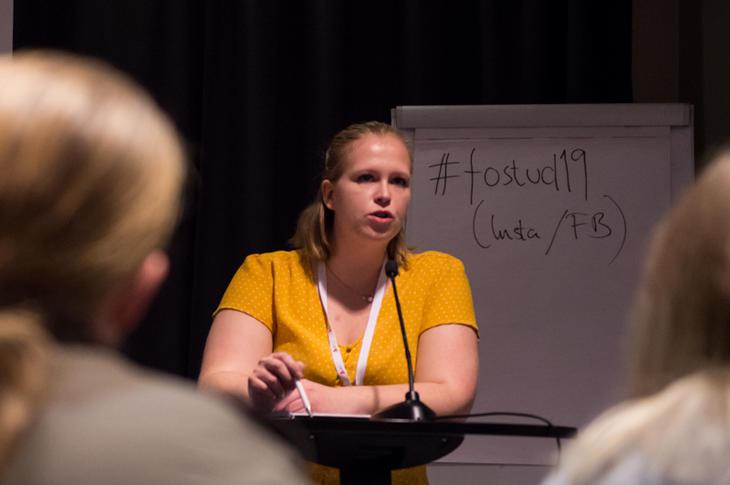 UENIG: Anne-Linn Sekkingstad fra lokallaget i Sogndal er helt uenig i at en strategiplan er riktig vei å gå for FO-Studentene