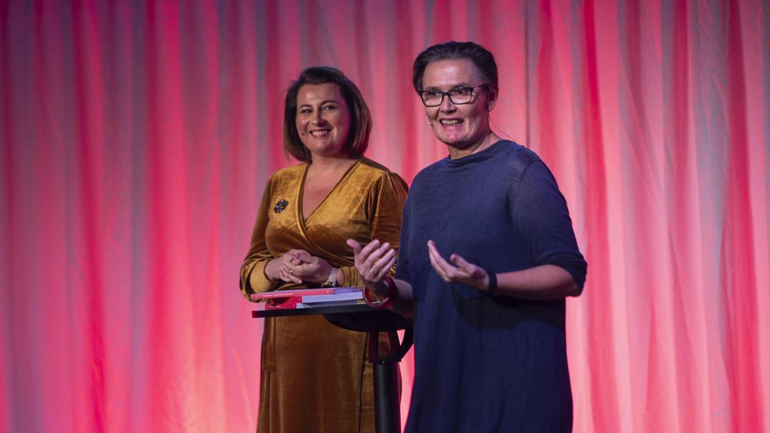 Profesjonsrådsleder for sosionomene,  Kathrine Haugland Martinsen og sosionom Marit Nybø