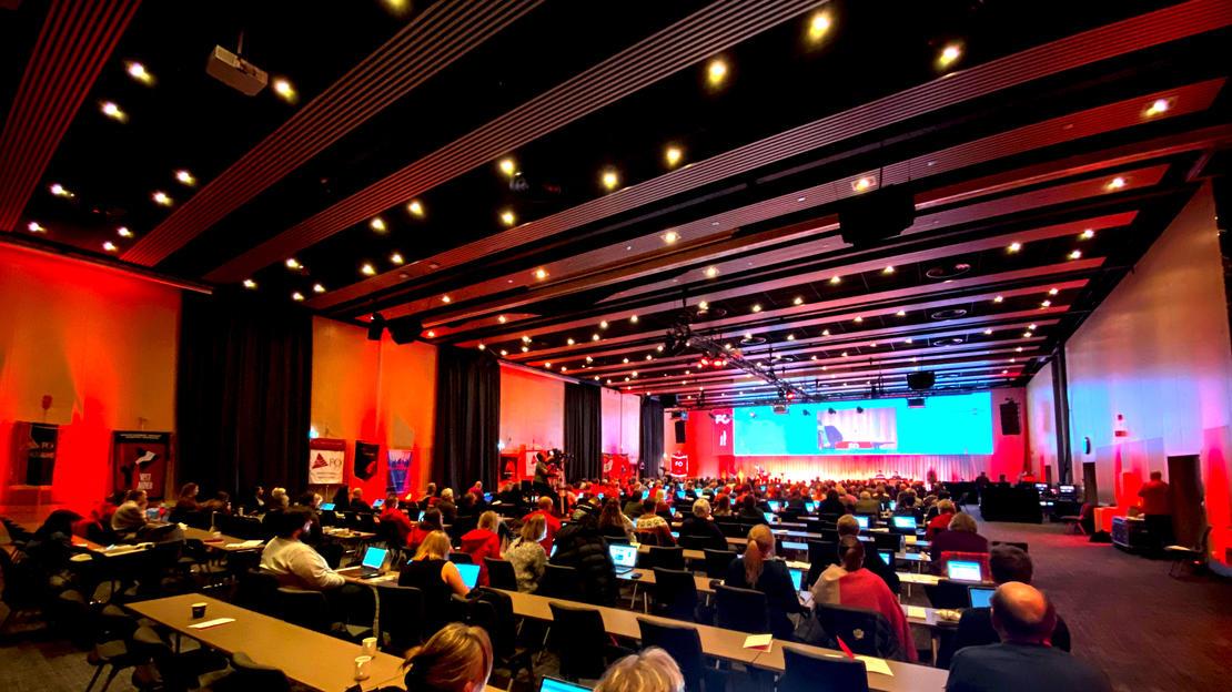 Dag 2 av FO sitt landsmøte - salen