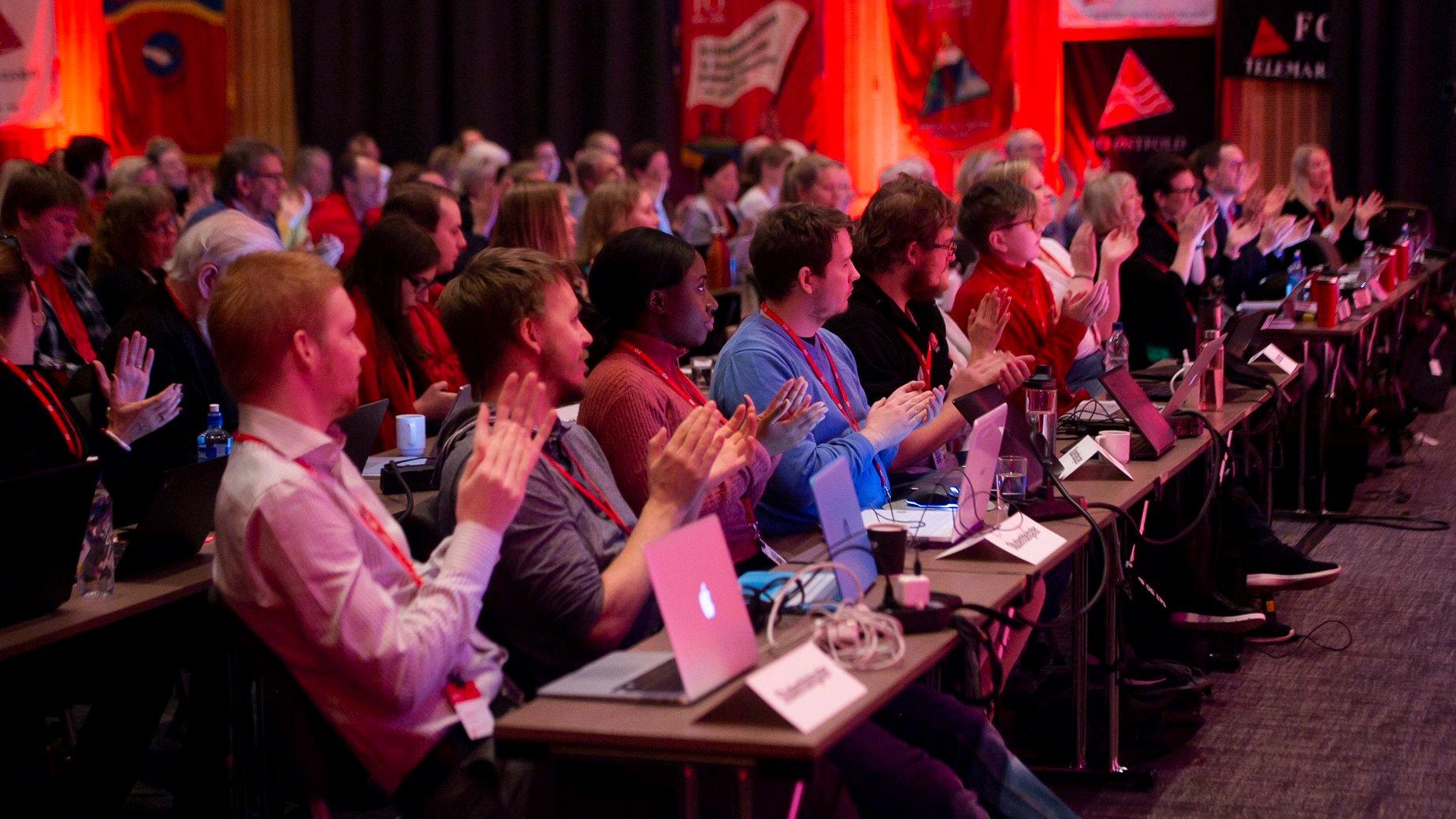studentdelegasjonen under landsmøtet