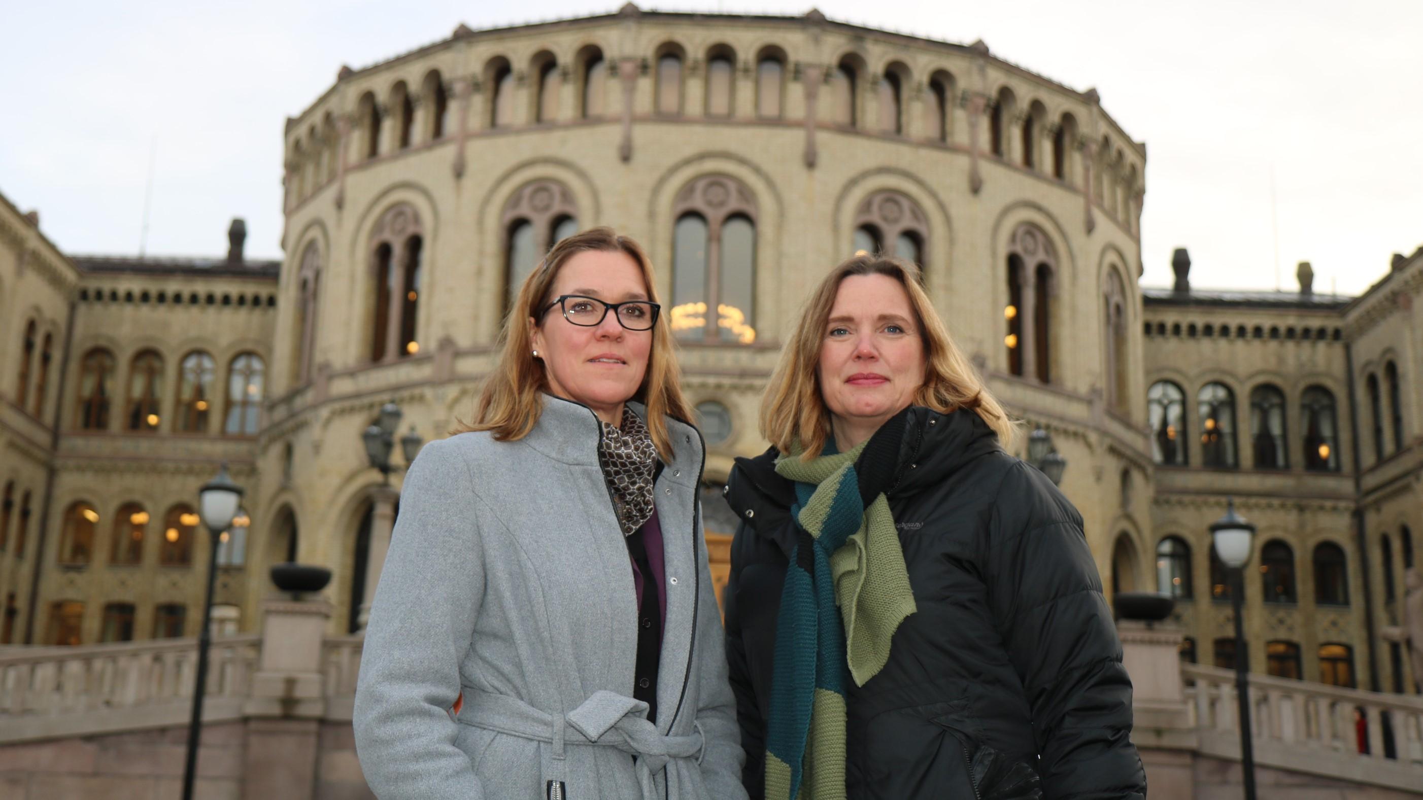 PÅ HØRING: Forbundsledelsens Marit Selfors Isaksen og Hanne Glemmestad representerte FO på høring om den mye omtalte NAV-saken.