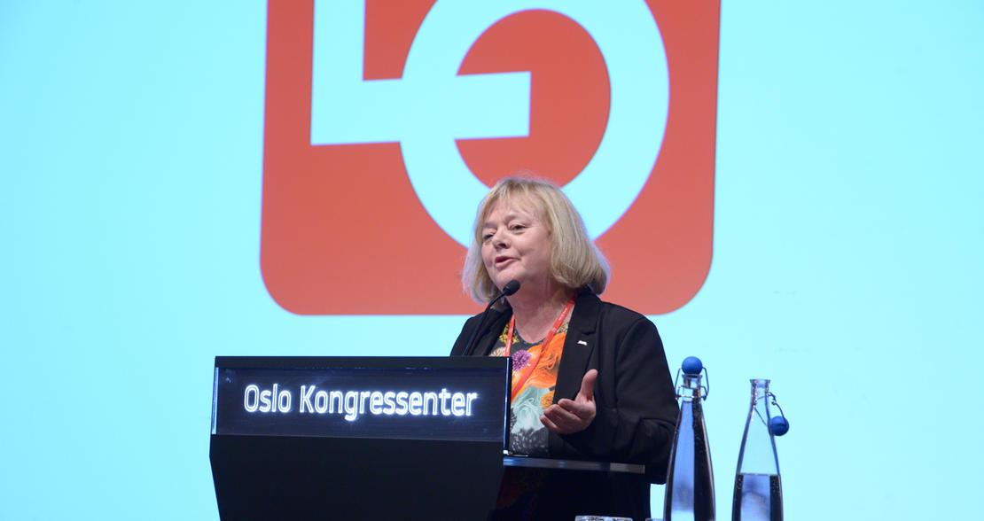 Mimmi Kvisvik deltok på LOs representantskap