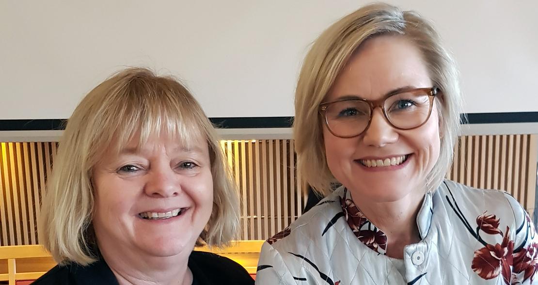 Mimmi Kvisvik sammen med Aps helsepolitiske talsperson Ingvild Kjerkol
