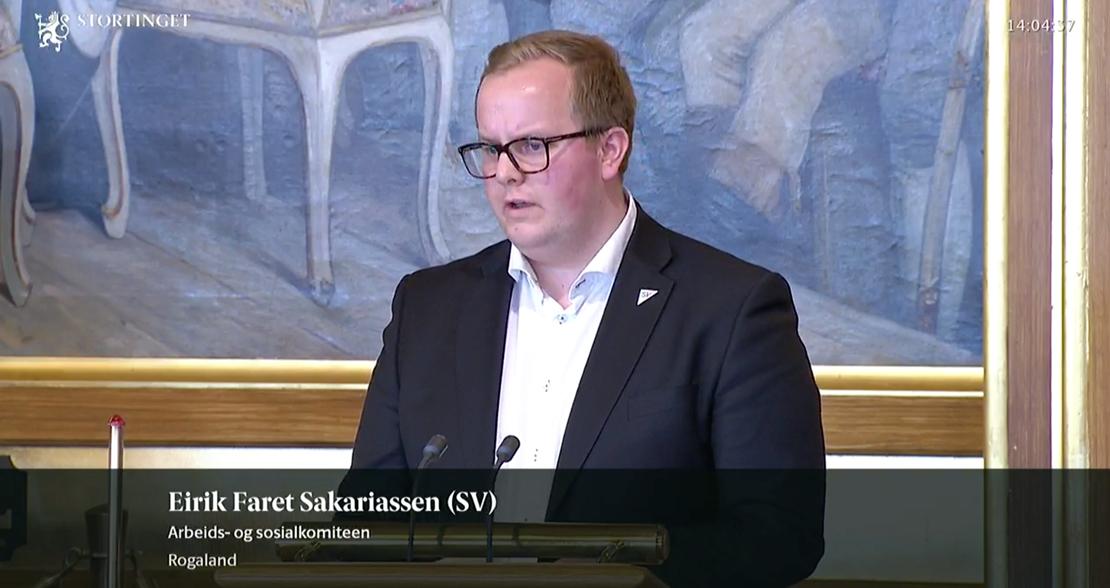 Eirik Faret Sakariassen er enig i FOs krav om en tillitsreform i Nav