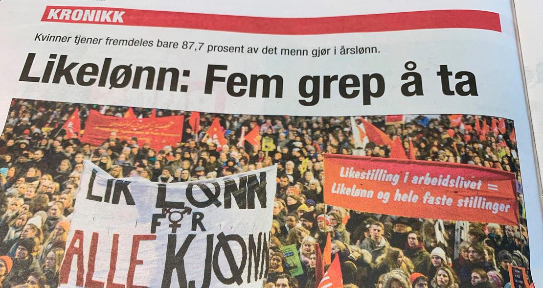 Kronikk om likelønn i Dagsavisen