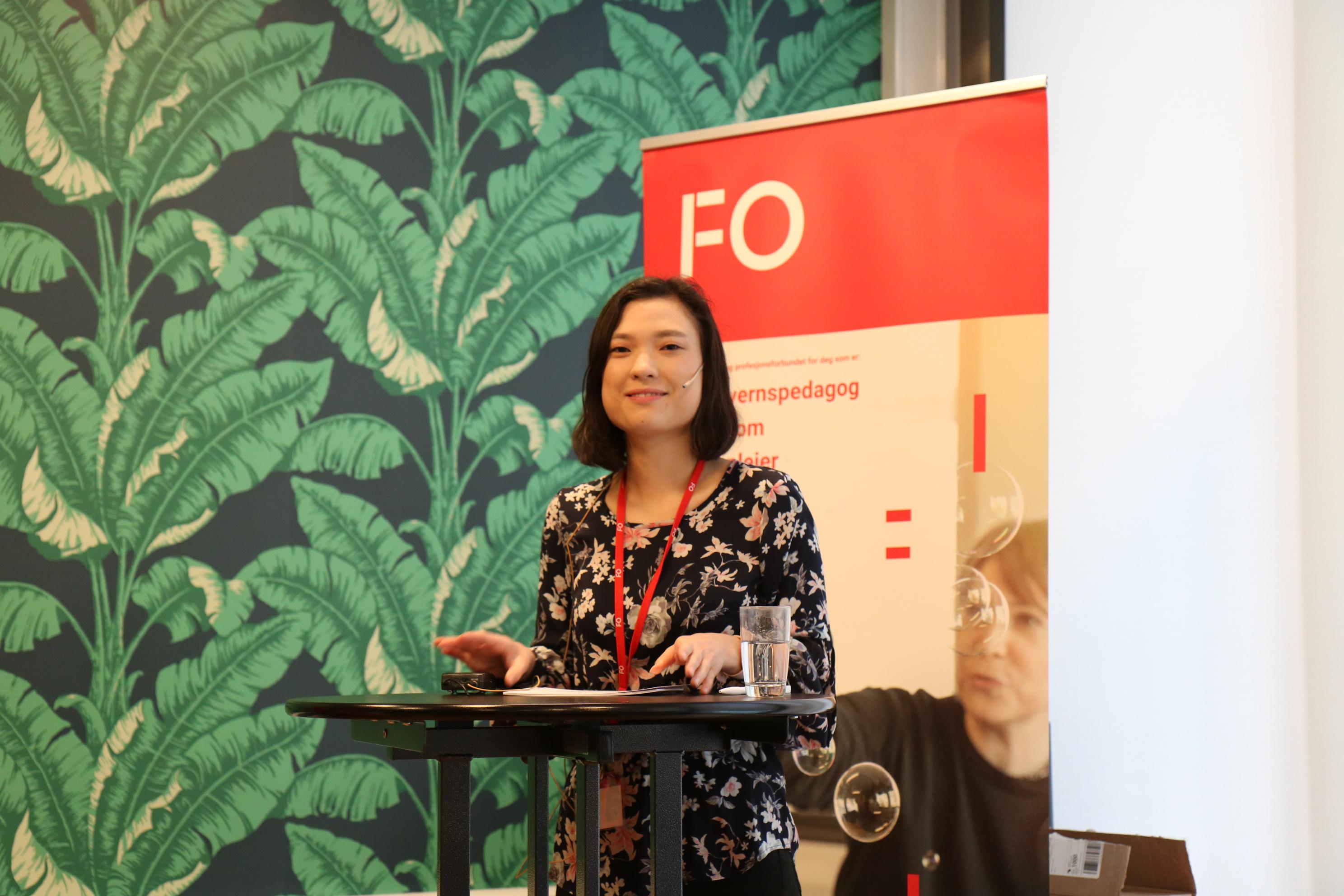 Emilie Engan Bjørbu ledet debatten