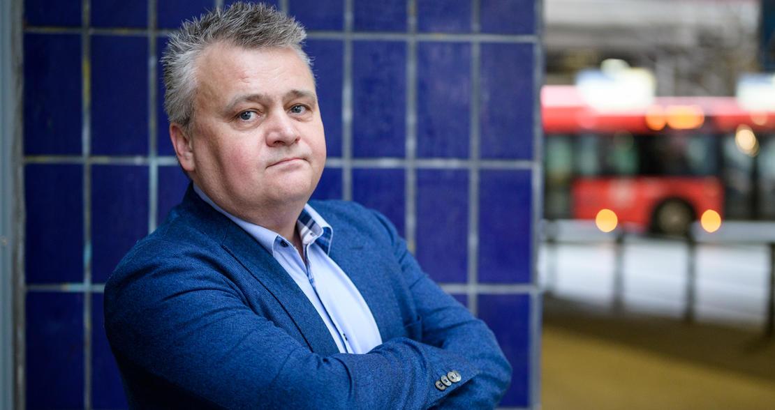 I FRONT: Fellesforbundets leder Jørn Eggum