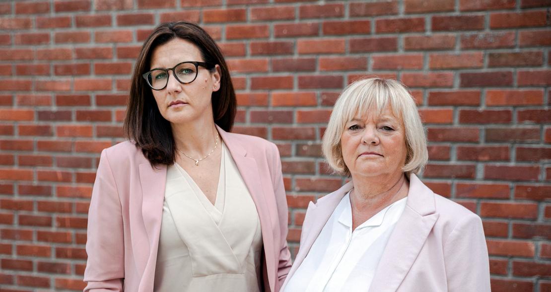 FO-leder Mimmi Kvisvik (t.h) og nestleder Marianne Solberg