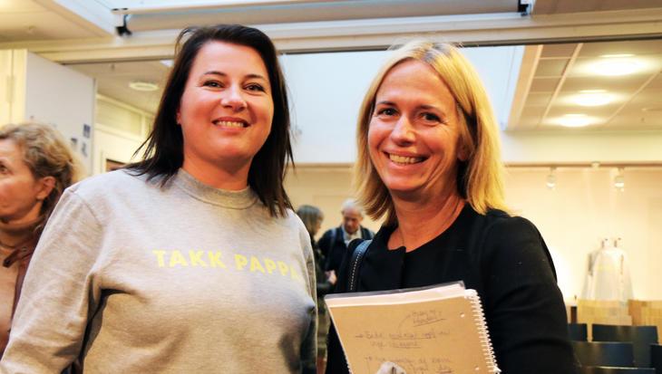 Kathrine Haugland Martinsen fra FOs ledelse og Barneombud Inga Bejer Engh