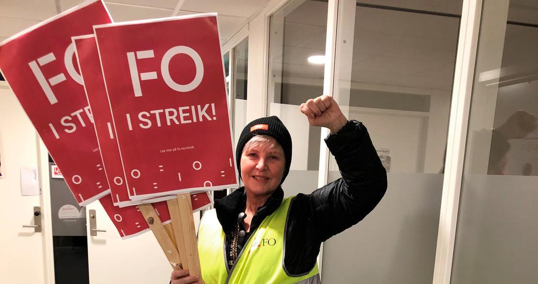 FO og Fagforbundet trapper opp streiken i private omsorgsbedrifter (NHO)