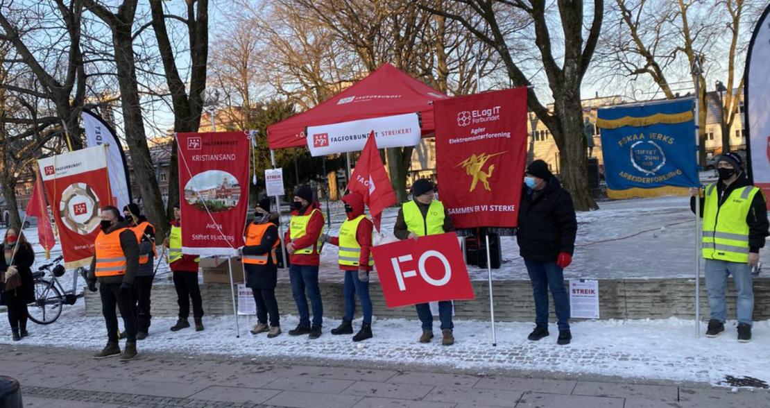 Disse støtter FO i streiken