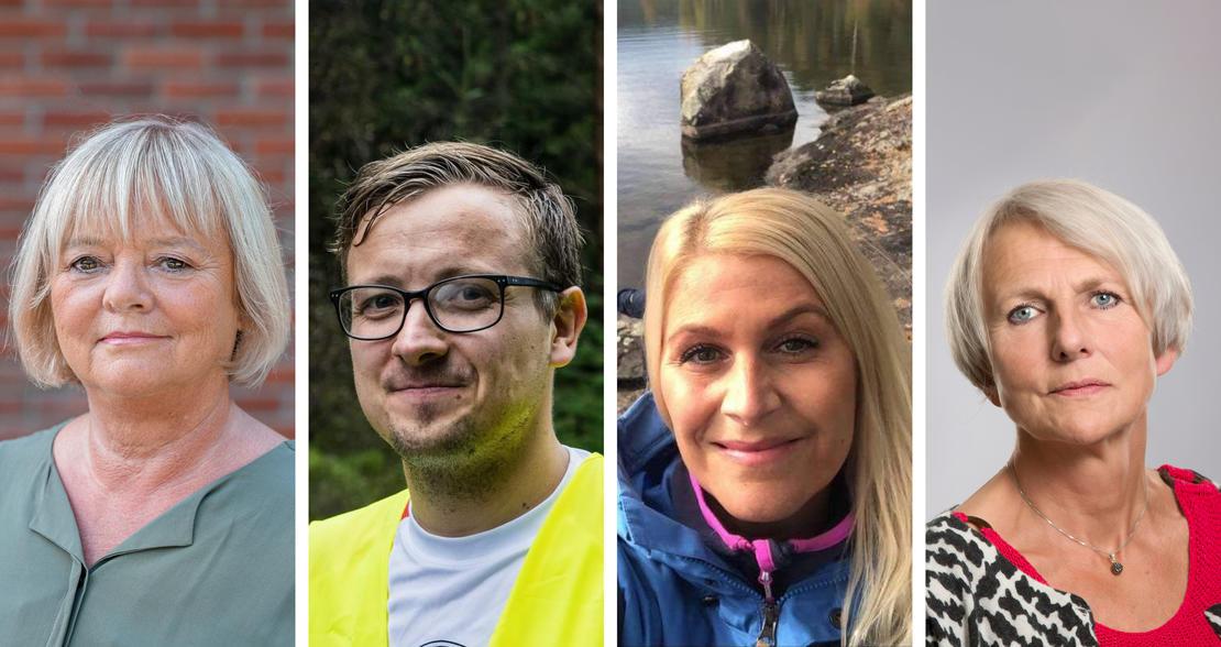 KREVER MILJØTERAPAUTER: Mimmi Kvisvik, Trond Spurkeland, Linda Olsen og Anne Finborud ønsker å lovfeste miljøterapeuter i skolen