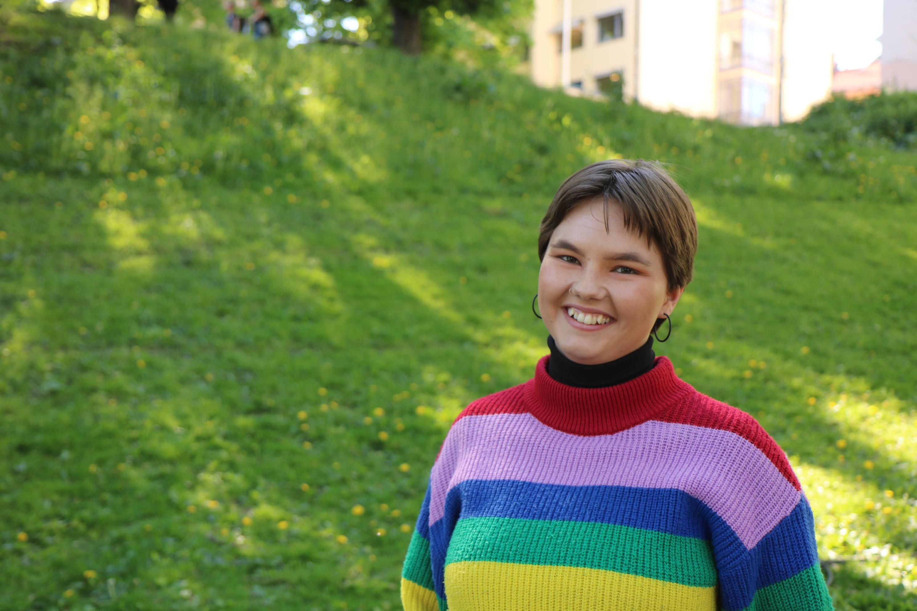 Bilde av FO-Studentenes leder Sigrid Lundervold Nesheim