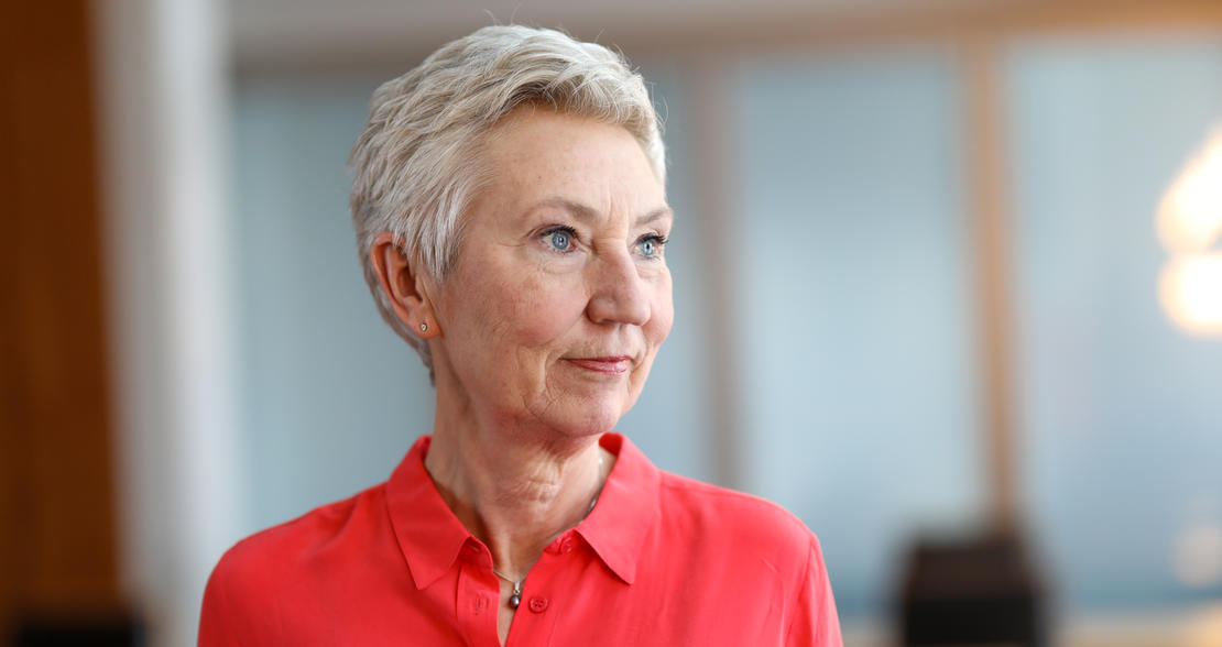 INVITERER: LO-leder Peggy Hessen Følsvik inviterer deg til feiring av 1. mai.