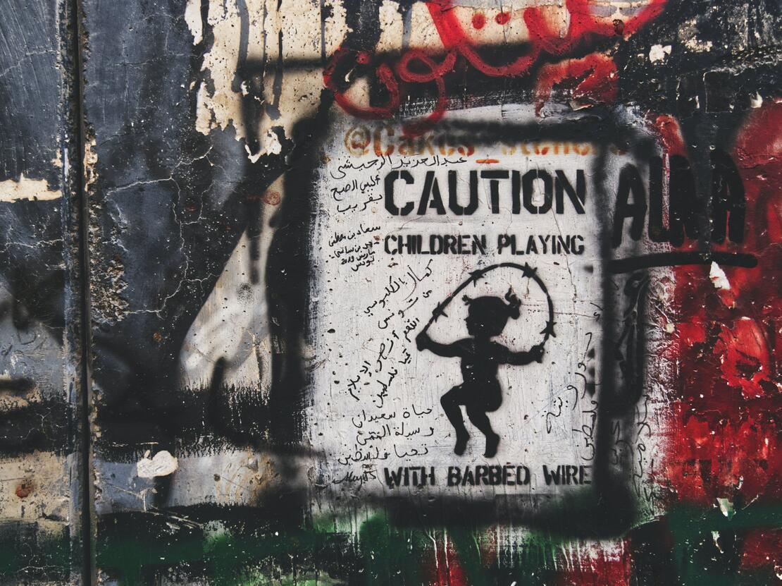 Graffiti med politisk kommentar