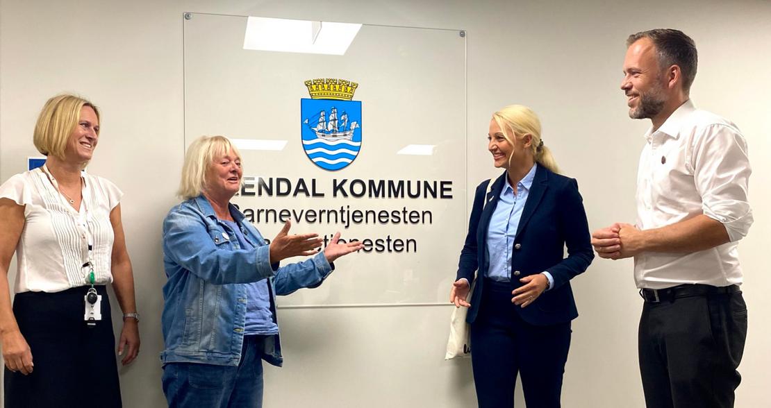 FO-ledelsen tok med SV-leder på besøk i barnevernet under Arendalsuka