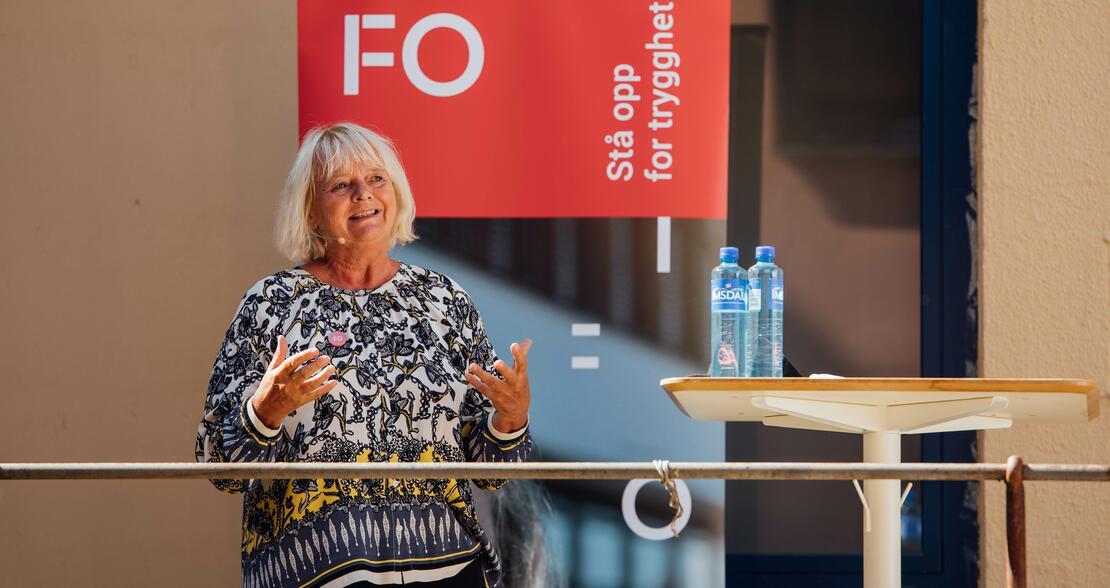 """ARENDALSUKA: Mimmi Kvisvik lanserte kravet om sosialminister under Arendalsuka. Kravet ble gjentatt på arrangementet """"Hvor blir det av sosialpolitikken?"""" (Foto: Pierluca Taranta)"""