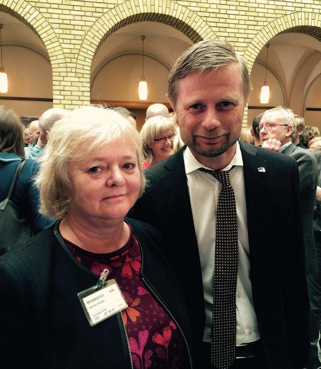 Mimmi Kvisvik og Bent Høie
