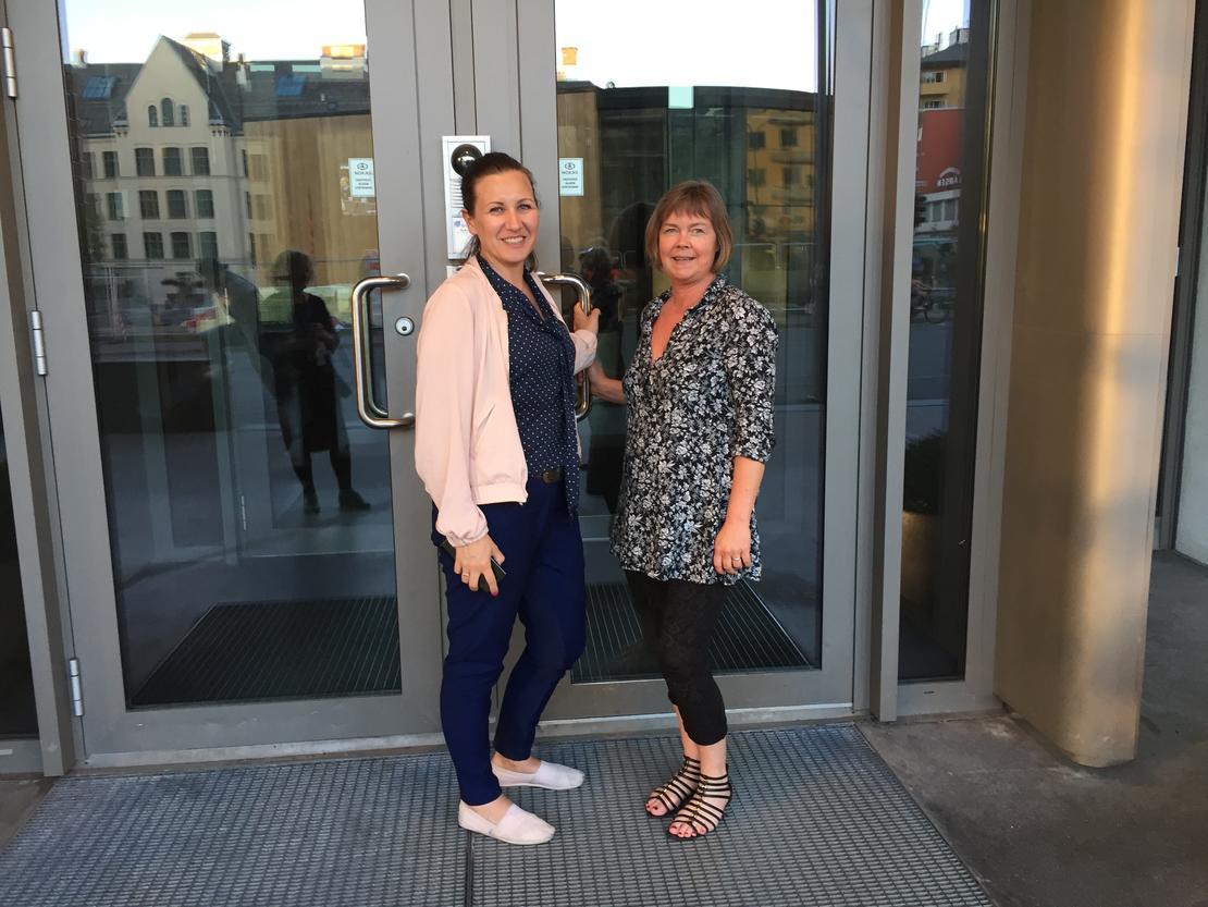Marianne Solberg Johnsen og forhandlingsrådgiver Sissel Hallem
