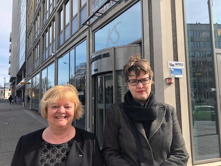 FO-leder Kvisvik og rådgiver Helga Melsom