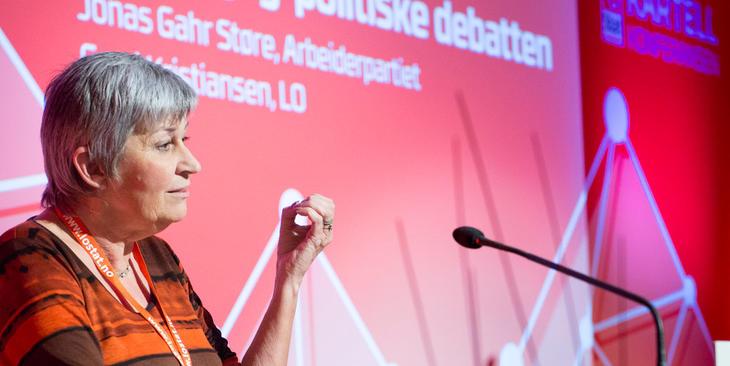 LO-leder Gerd Kristiansen på Kartellkonferansen om å få flere folk i fast arbeid