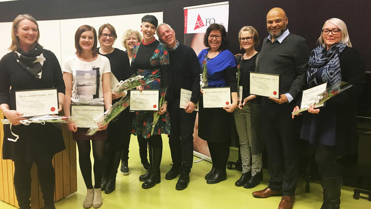 Prisvinnere av årets sosialarbeiderpris