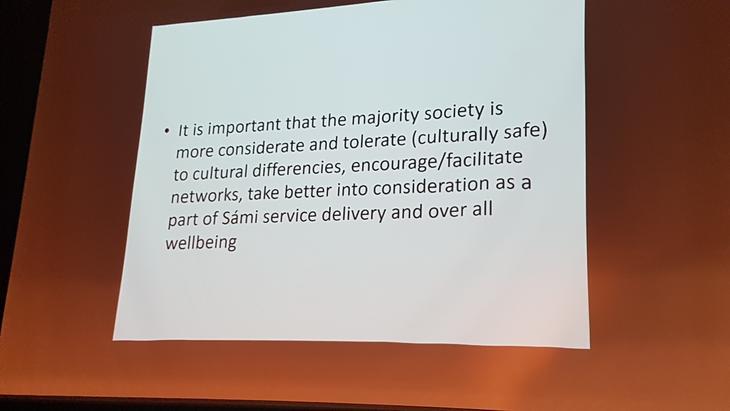 Dr. Lydia Heikkilä fra Finland snakket om tradisjonelle samiske gjensidige nettverk.